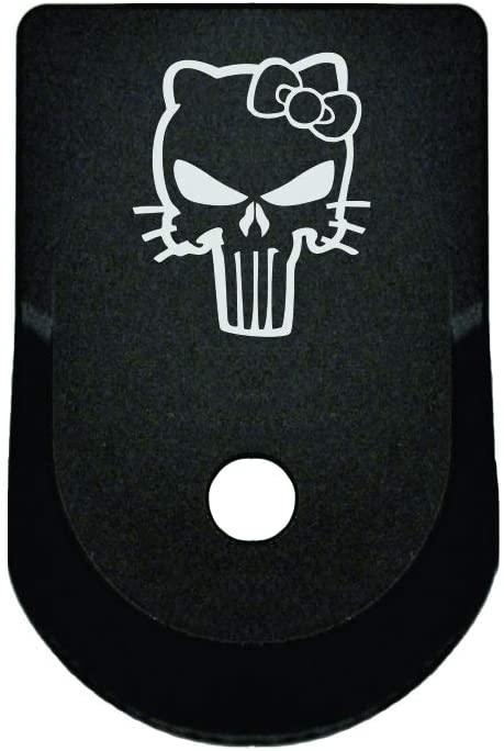 BASTION Laser Engraved Aluminum Finger Extension Grip Magazine Base Plate for Glock 9mm .357 .40 .45 Gap - Gen 1-5 - Hello Kitty