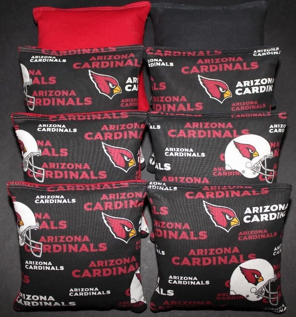 BackYardGamesUSA Cornhole Bean Bags All Weather Arizona Football 8 ACA Regulation Corn Toss Game Bags