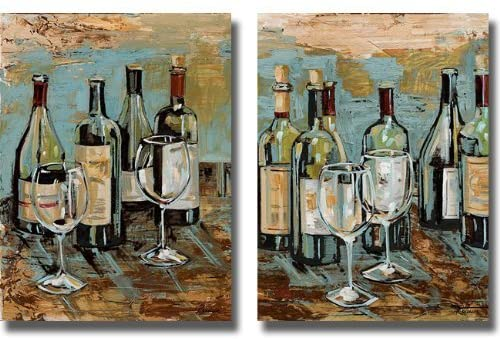 Wine I & II by Heather French-Roussia 2-pc Premium Gallery-Wrapped Canvas Giclee Art Set (Ready-to-Hang)