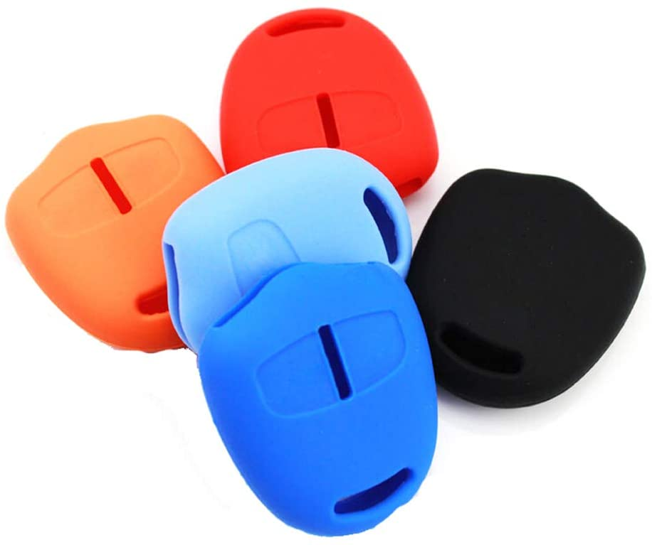Maiqiken for Mitsubishi Outlander Colt Lancer Grandis Pajero Silicone Protecting Cover Holder Key Jacket Remote Key Case Shell Cover (SkyBlue)