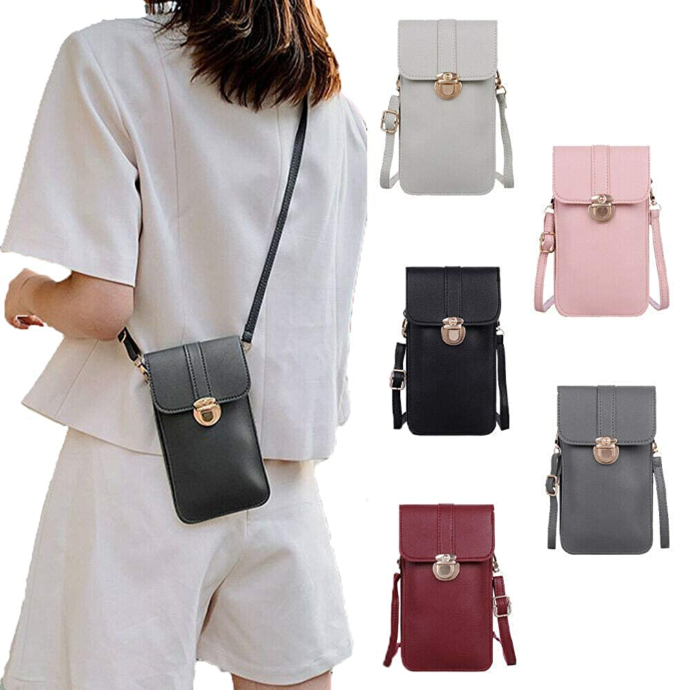 Womens Cell Phone Purse Bag Shoulder Strap Womens Touch Screen Cross-Body Pouch Wallet