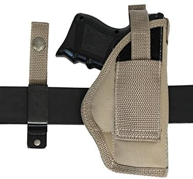 Barsony New Desert Sand Ambidextrous 360Carry 12 Option Holster for Compact 9mm 40 45