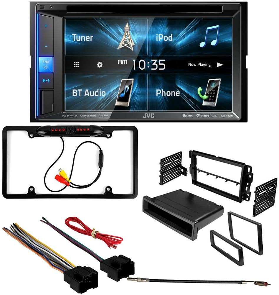 CACHÉ 3066 Bundle with Complete Car Stereo Installation Kit with Receiver – Compatible with 2006–2011 Buick Lucerne – Bluetooth Touchscreen, Backup Camera, Double Din Dash Mounting Kit (5Item)
