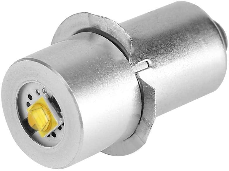 LED Flashlight Replacement Bulb,1pc P13.5S 3W LED Flashlight Replacement Bulb Torch Lamp Emergency Work Light(White 3V)