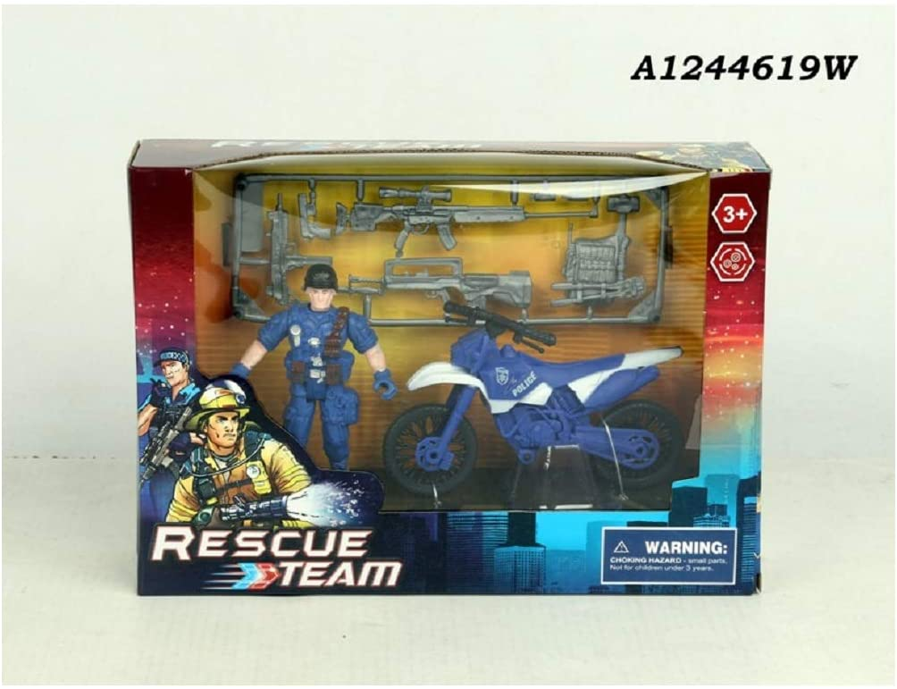 Nutcracker Factory Blue and White Police Rescue Team Playset Children's Toy