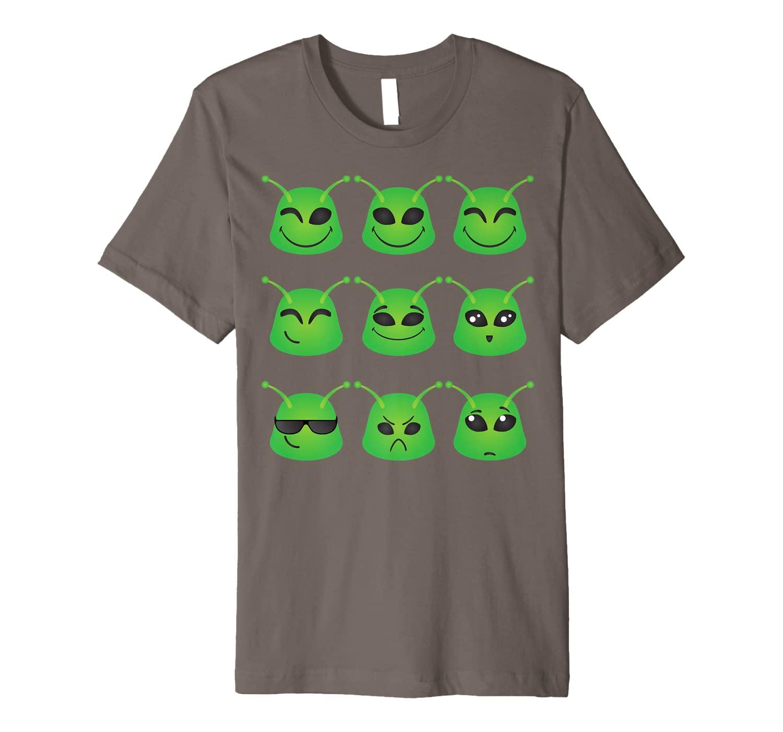 Cute Alien Smileys Gift T-Shirt For Alien Emojis Believers