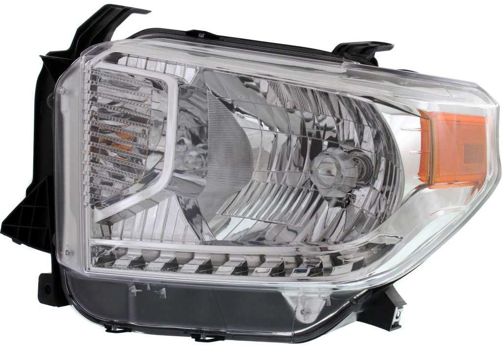 For Toyota Tundra Headlight Assembly 2014 2015 Driver Side | Halogen | SR / SR5 / Limited Model | All Cab Types | w/o Level Adjuster | CAPA TO2502218 | 811500C081