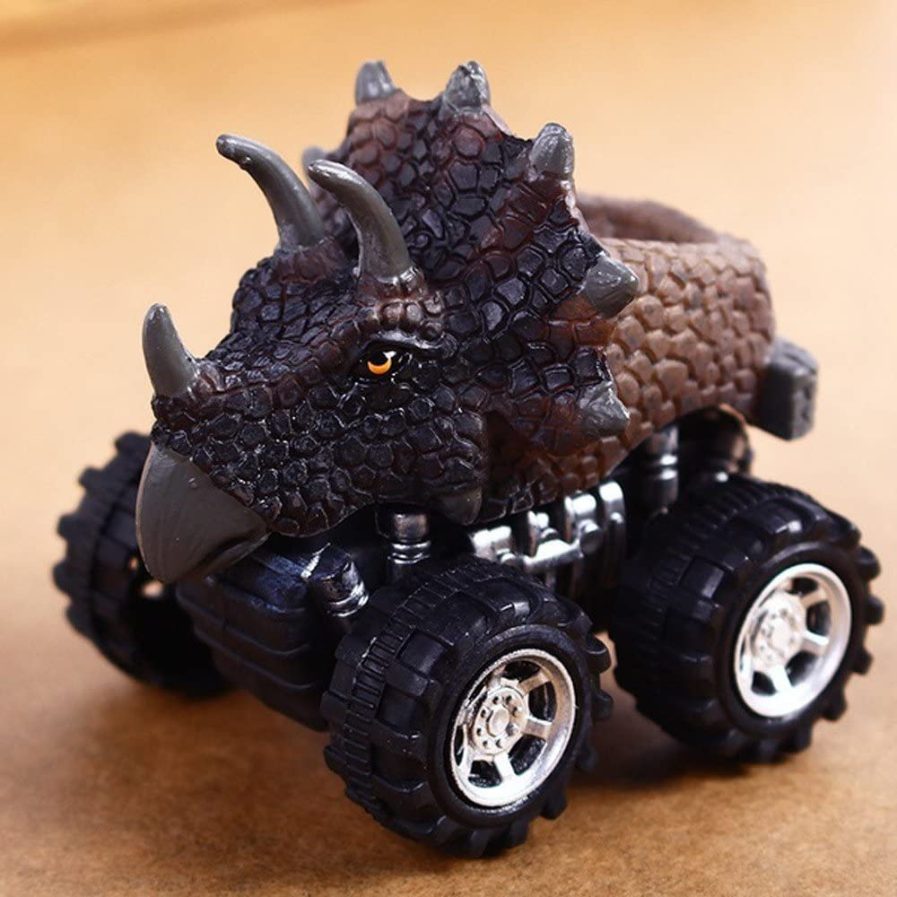 ERTG Dinosaur Toys for 3 Year Old Childs, Pull Back Dinosaur Toys Dinosaur Toy Car Pull Back Car Mini Toy Model Car Gift Toy Dinosaur Model Mini Toy Car Back of The Car Gift 7x5x6cm