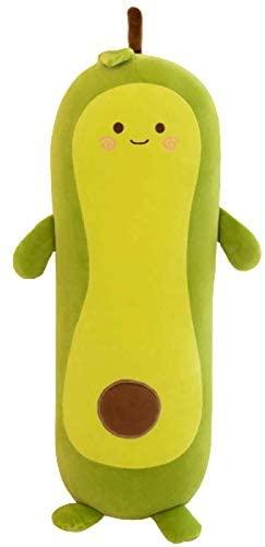 Avocado Pillow , Down Cotton Four-Sided Elastic Soft Avocado Plush Toys,Cute Fruit Stuffed Doll is Gift for Girl Boy Friend (Strip,13.8?(35cm))