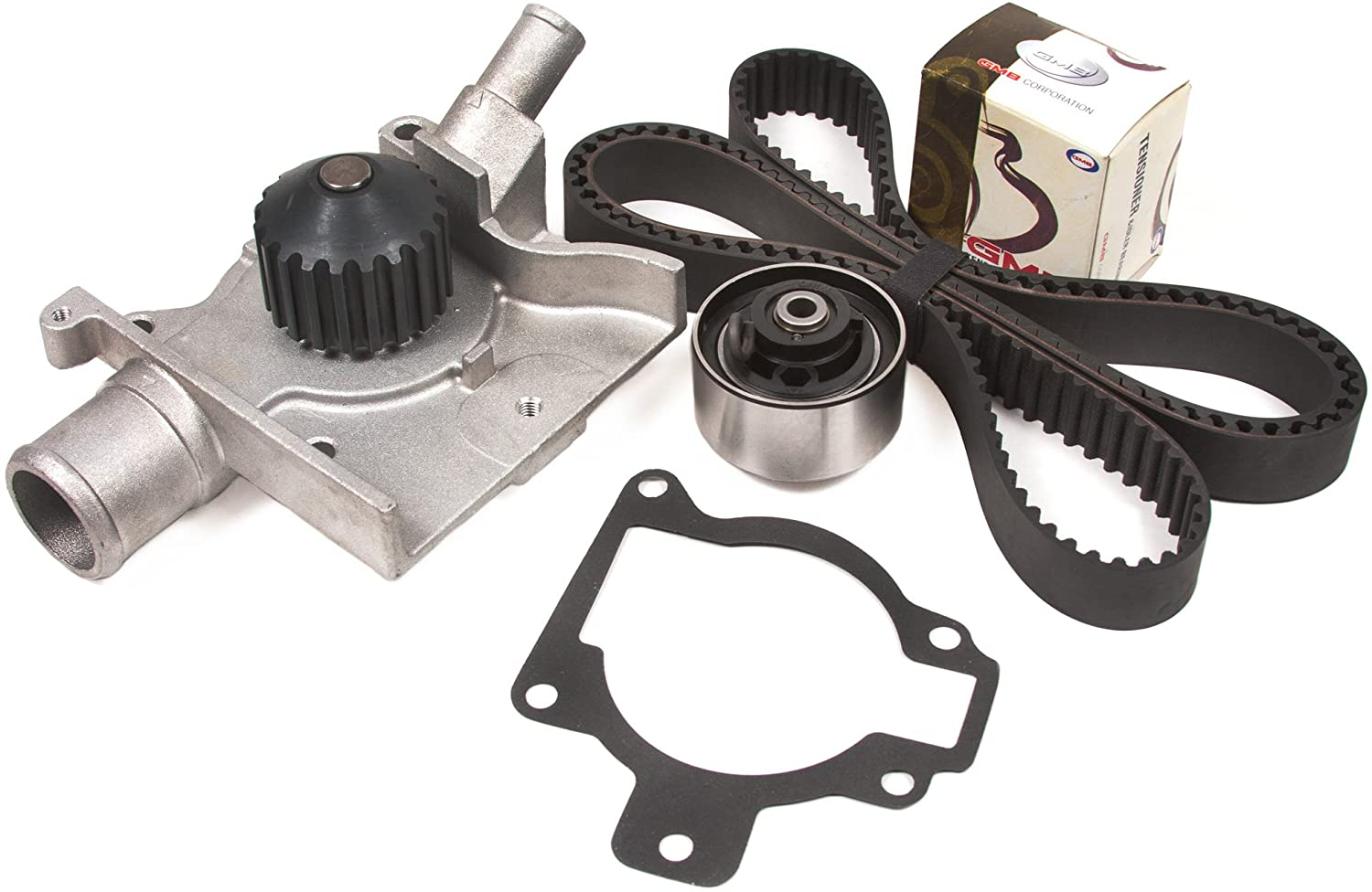 Evergreen TBK283WPT Compatible With 97-02 Ford Escort Mercury Tracer 2.0L SOHC 8V Timing Belt Kit Water Pump