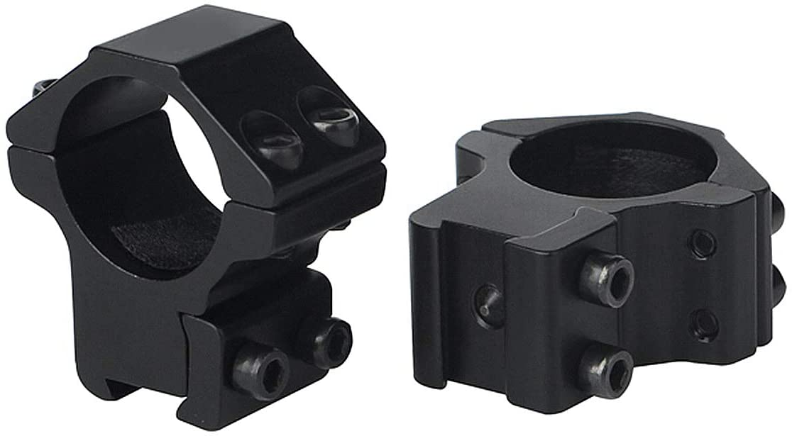 ToopMount 1 Inch Scope Rings, Profile Scope Rings - Optical Sight Bracket Metal Rifle Scope Mount Rings 25.4mm, 11mm/20mm High/Middle/Low Dovetail Rings