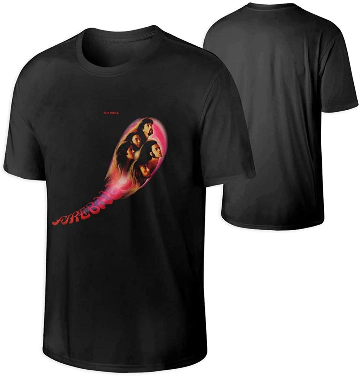 Mens Deep Purple Fireball Breathable Sunscreen T-Shirt
