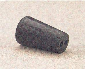 59582-166PK - Size : 3 - Black Rubber Stoppers, Two-Hole - Pack of 1