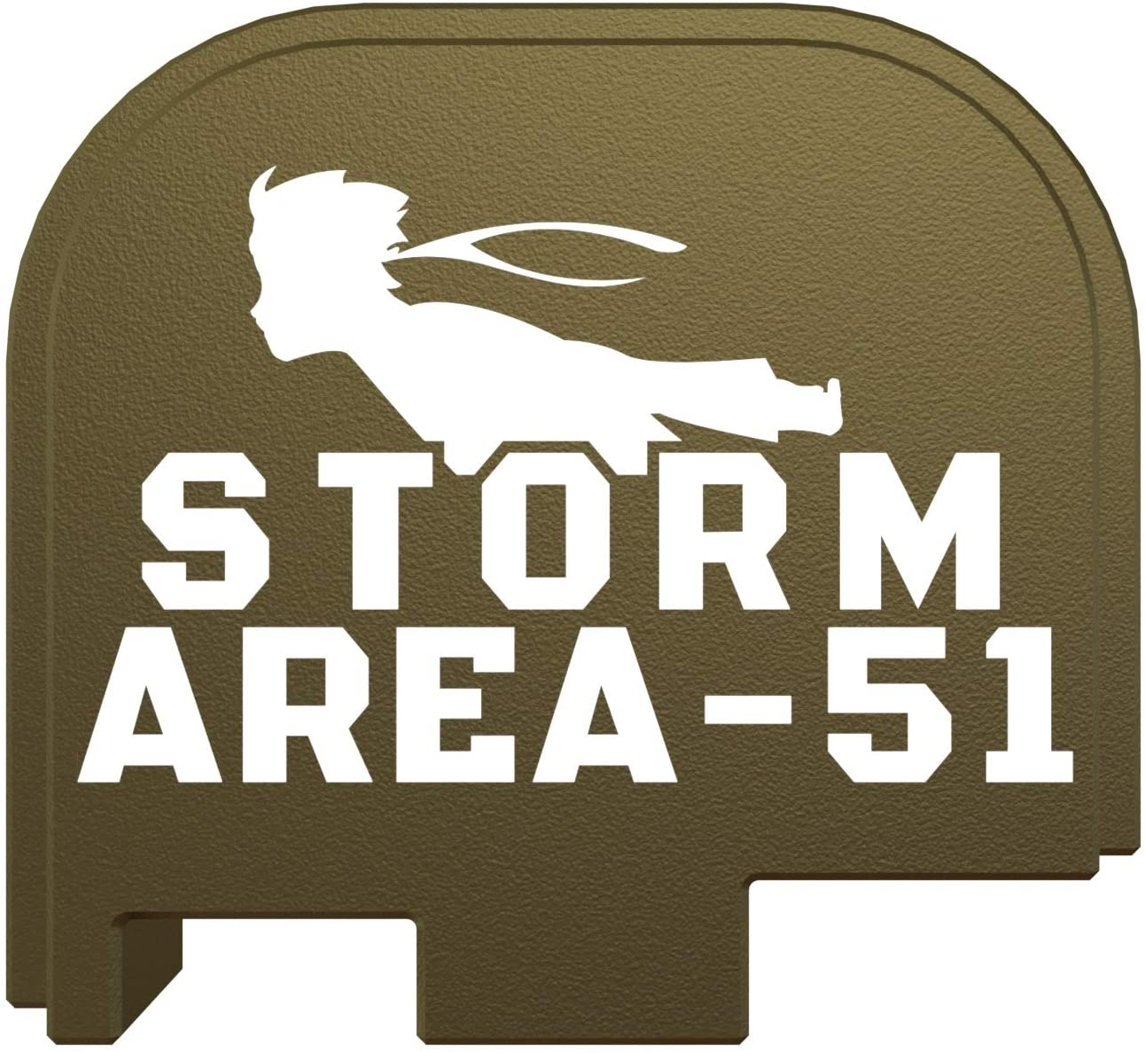 Rowe Tactical Glock Rear Slide Cover Plate - Olive Drab Storm Area-51 - for Glock 43-43x-48