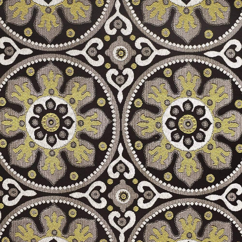 eLuxurySupply Fabric by The Yard - 100% Polyester Upholstery Sewing Fabrics with LiveSmart Technology - Petra Midnight Pattern