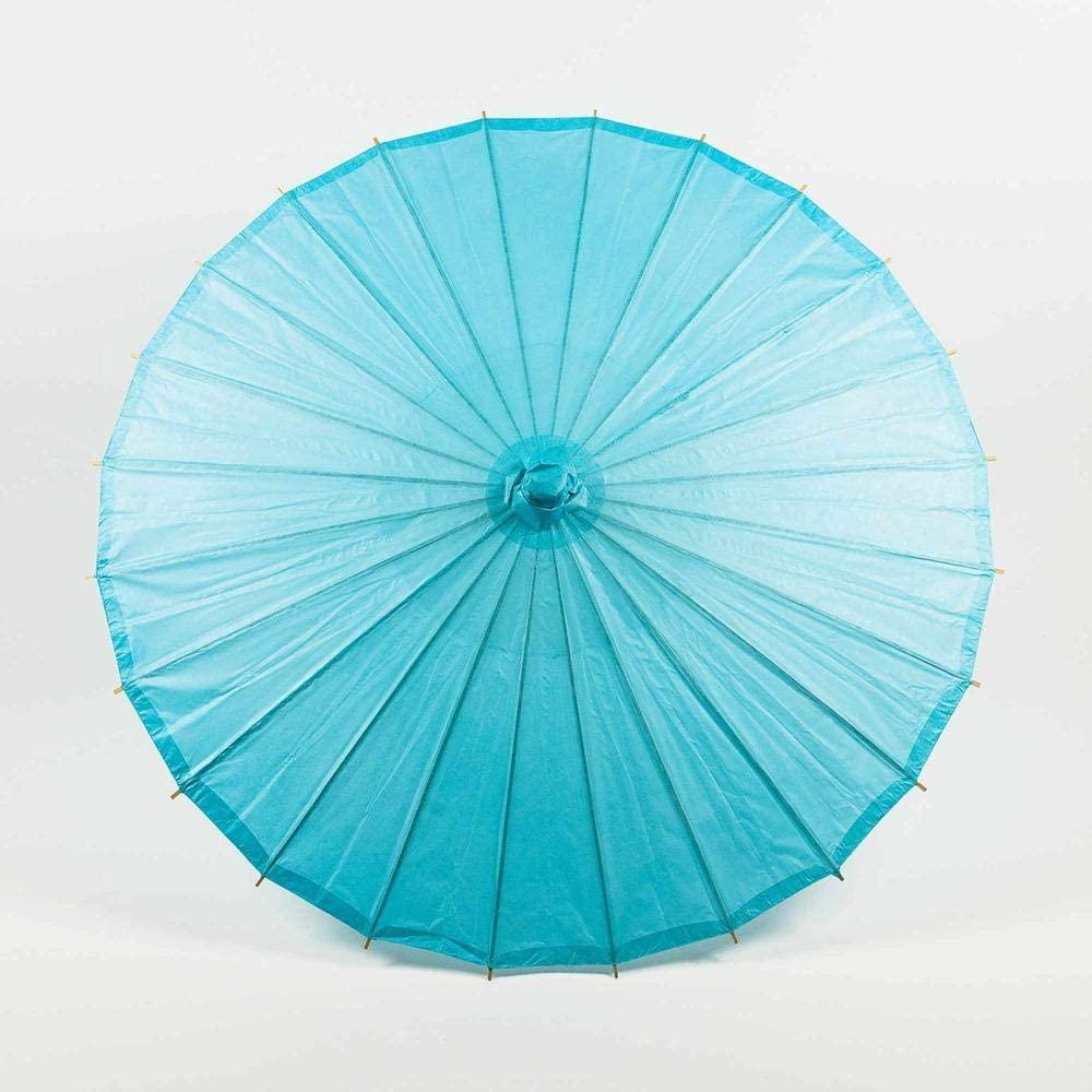 Quasimoon PaperLanternStore.com 20 Inch Water Blue Paper Parasol Umbrella