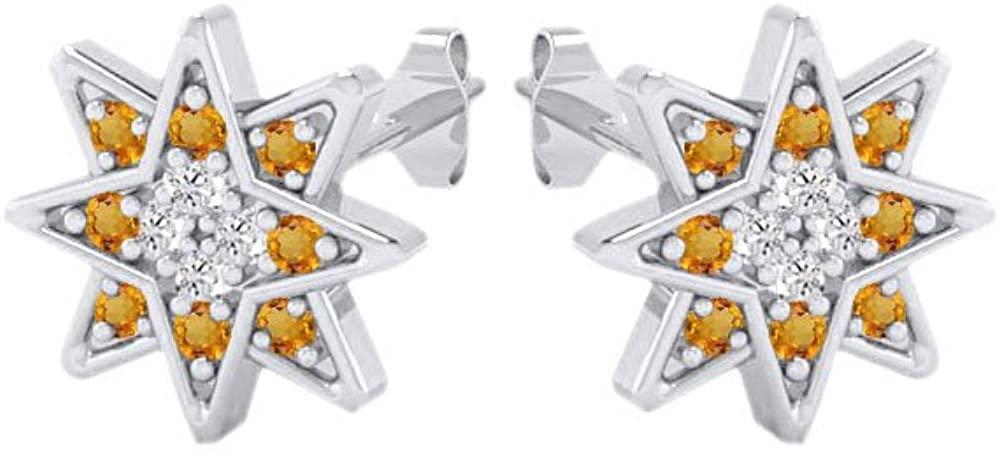 Star Stud Cluster Earrings 14k Gold Over Sterling Silver