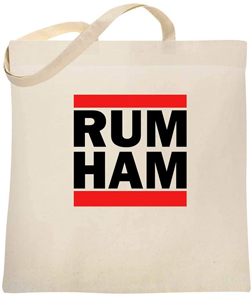 Rum Ham Funny Logo Parody Large Canvas Tote Bag Women