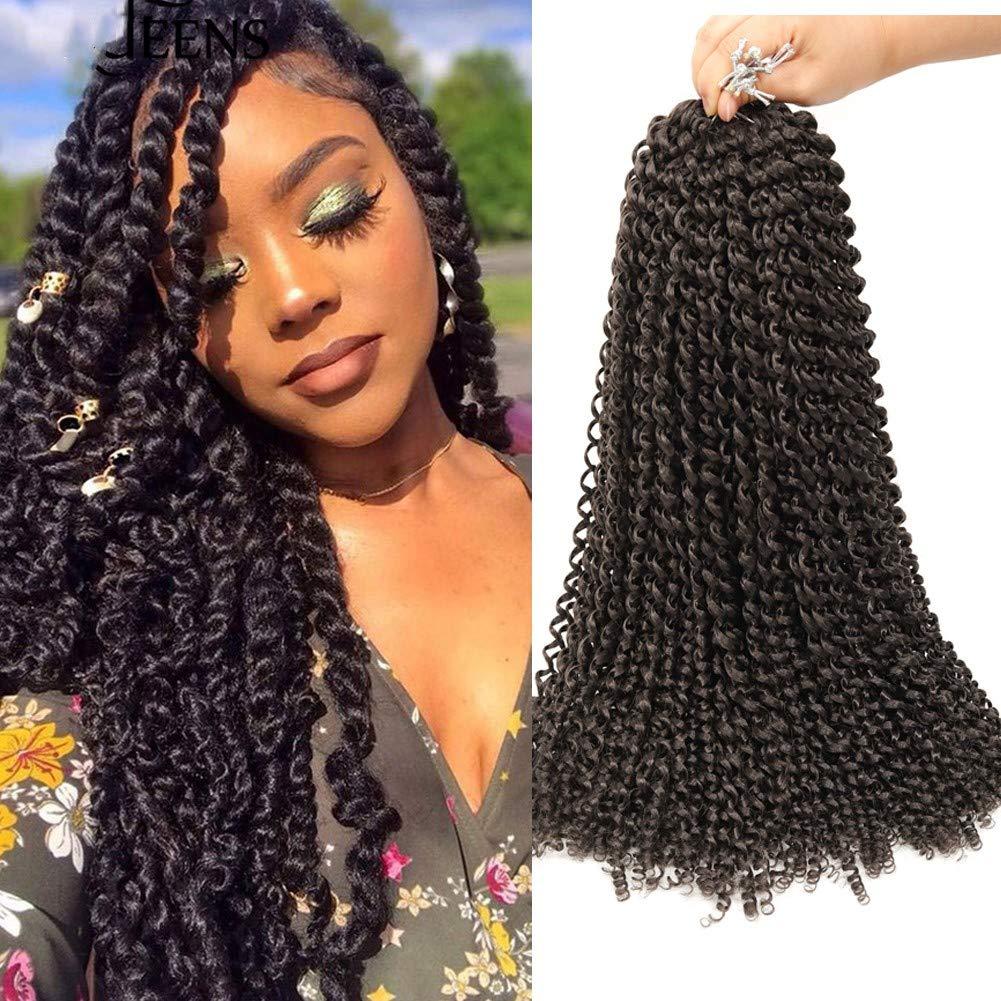 7 Packs Passion Twist Hair 18 Inch Water Wave Crochet Hair Synthetic Braids for Passion Twist Crochet Braiding Hair Long Bohemian Hair Extensions 22 Strands/Pack (4#)