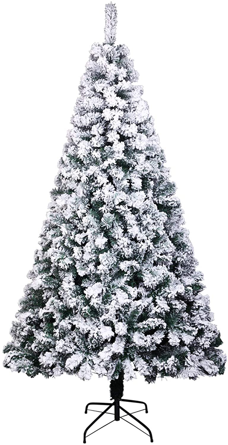 SPARSIFOLIA Artificial Christmas Tree; PVC Christmas Holiday Decor Decoration Automatic Tree with 1300 Branches; Easy Assembly; 7FT; White