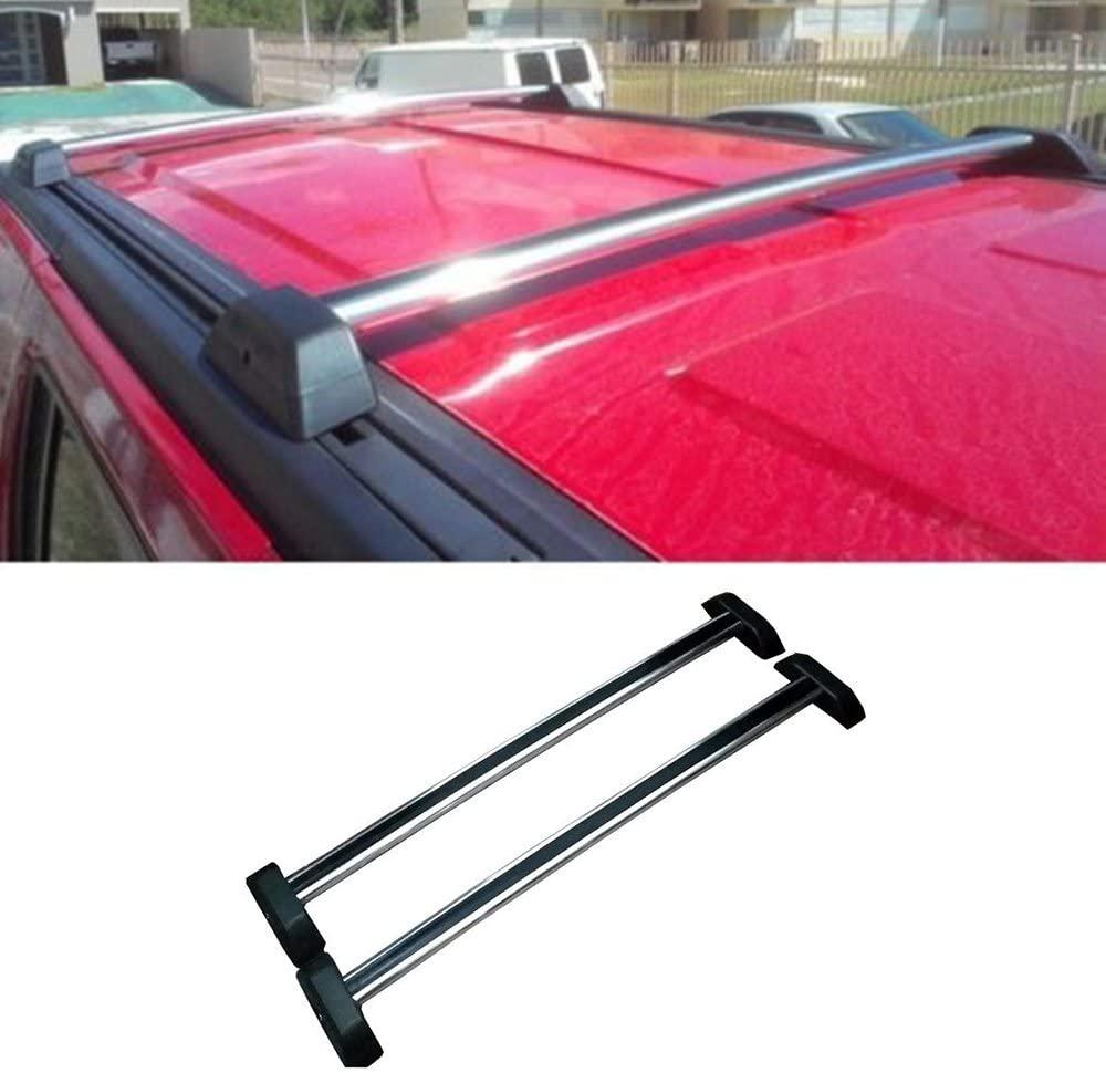 Laprive Auto 2x Silver Al Roof Rack Cross Bars Top Rail w/Lock + Key For 06-10 Hummer H3/H3T
