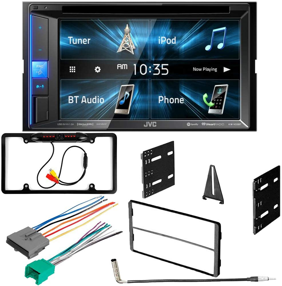 CACHÉ KIT2882 Bundle with Complete Car Stereo Installation Kit with Receiver – Compatible with Ford 1995–1997 Explorer – Bluetooth Touchscreen, Backup Camera, Double Din Dash Mounting Kit (5Item)