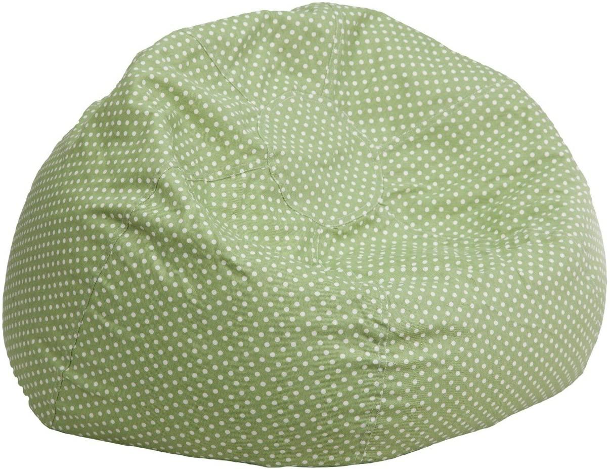 BBD Small Green Dot Kids Bean Bag Chair