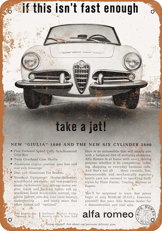 Wall-Color 9 x 12 Metal Sign - 1963 Alfa Romeo Giulia 1600 - Vintage Look