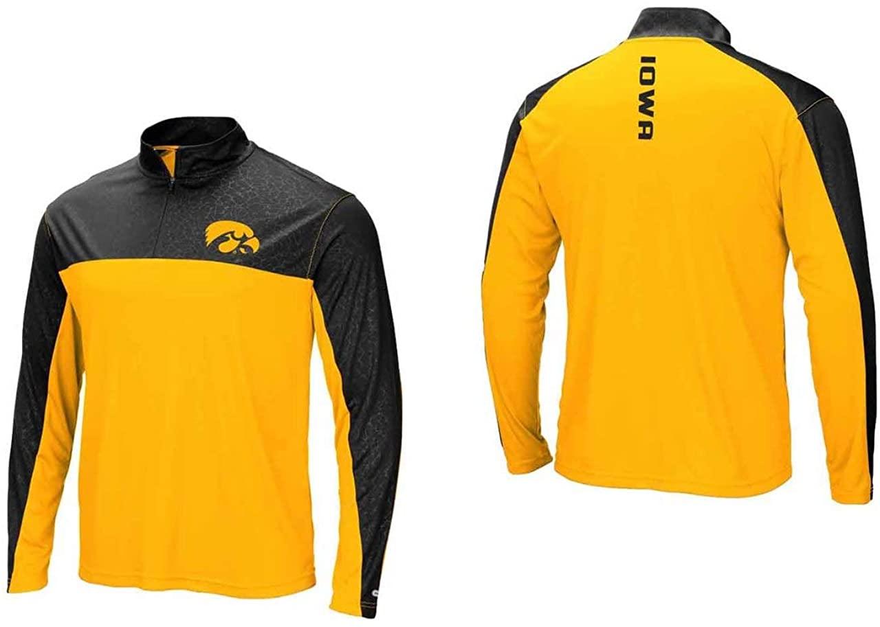 Iowa Hawkeyes Adult Luge 1/4 Zip Windshirt - Team Color