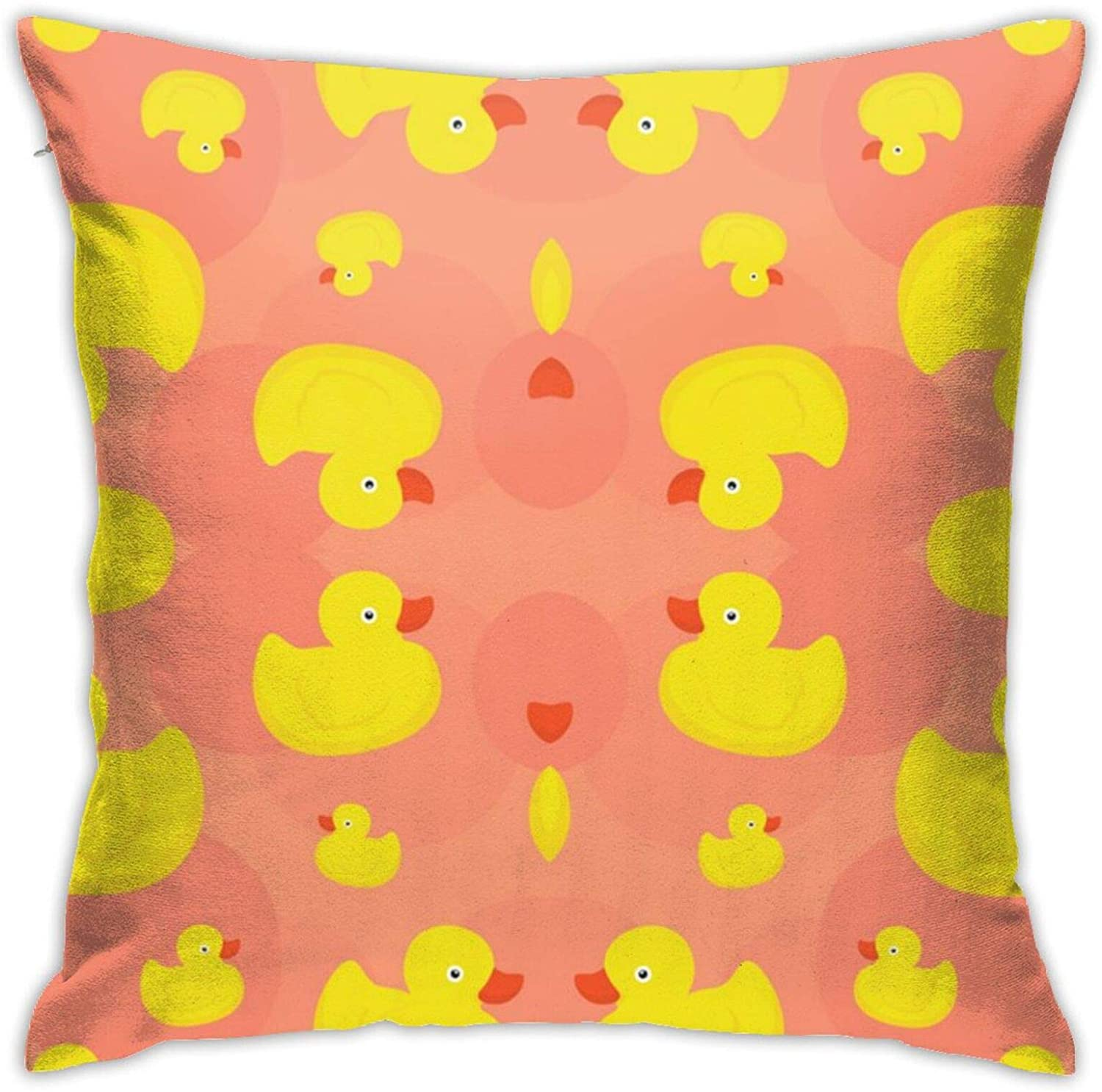 antcreptson Rubber Duck (Pink) Throw Pillow Case Cushion Cover for Sofa Couch Living Room Home Decor - Vintage Pillow Case for Book Lover/Bookworm/Librarian(18 x 18 Inch)