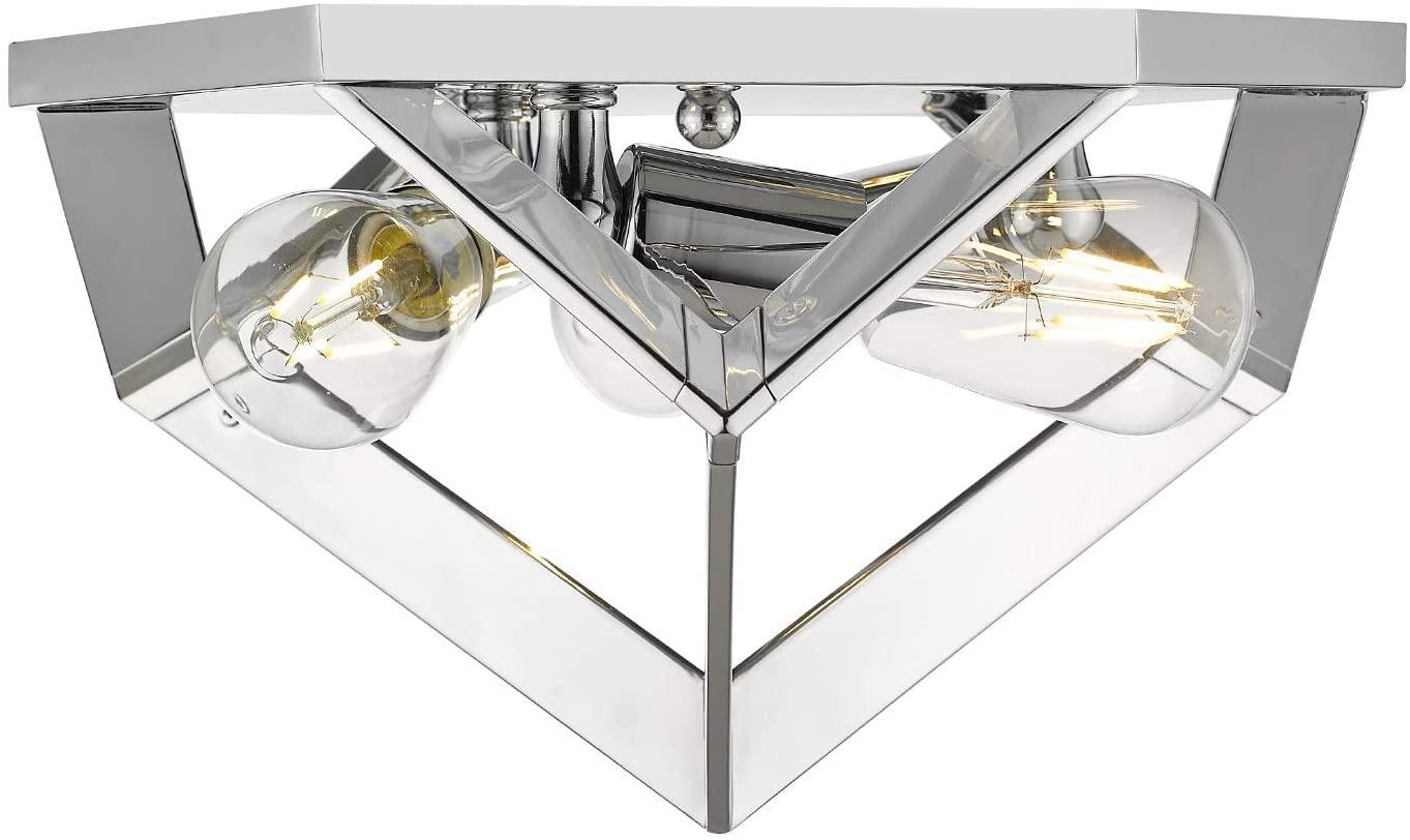 Golden Lighting 2083-FM CH Architect Flush Mount, Chrome