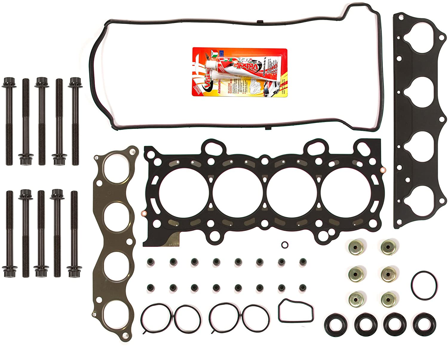 Compatible With 02-06 Honda CRV 2.4 K24A1 DOHC Head Gasket Set Head Bolts