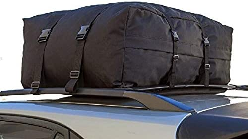 OxGord Roof Top Cargo Rack Water Resistant Carrier Bag for Vehicles, 10 Cubic Feet