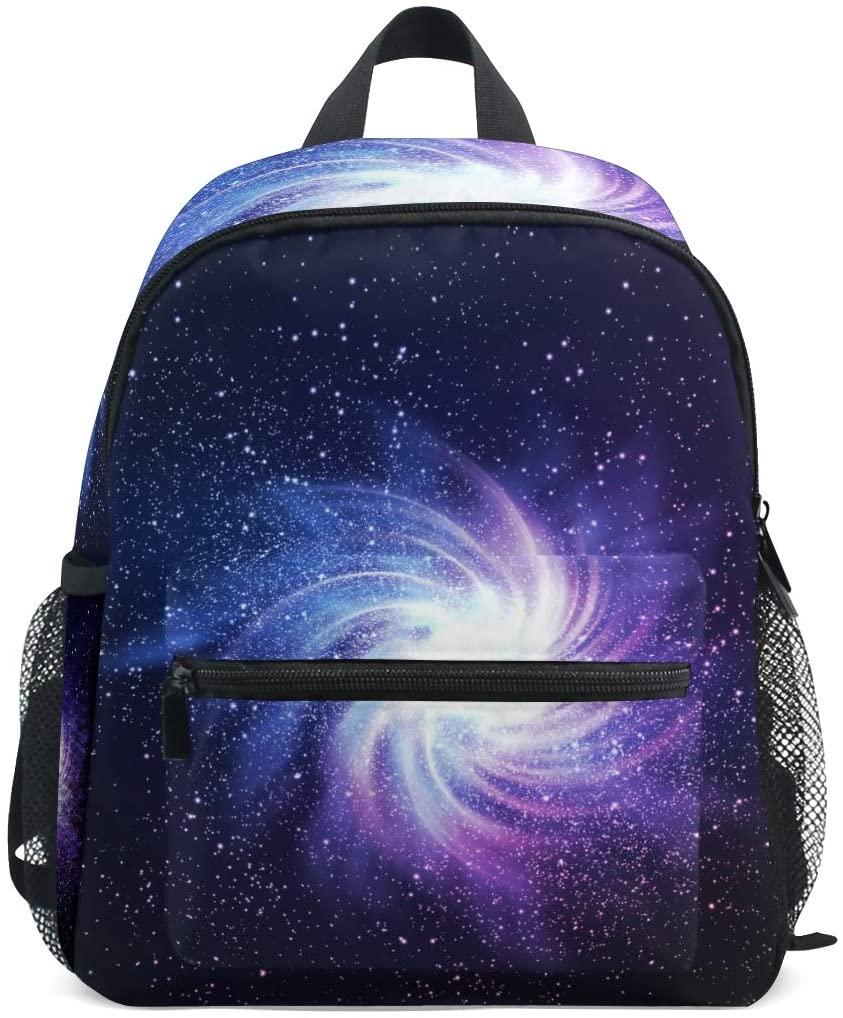 OREZI Space Galaxy Image Kids Backpack,Toddler Schoolbag Preschool Bag Travel Bacpack for Little Boy Girl