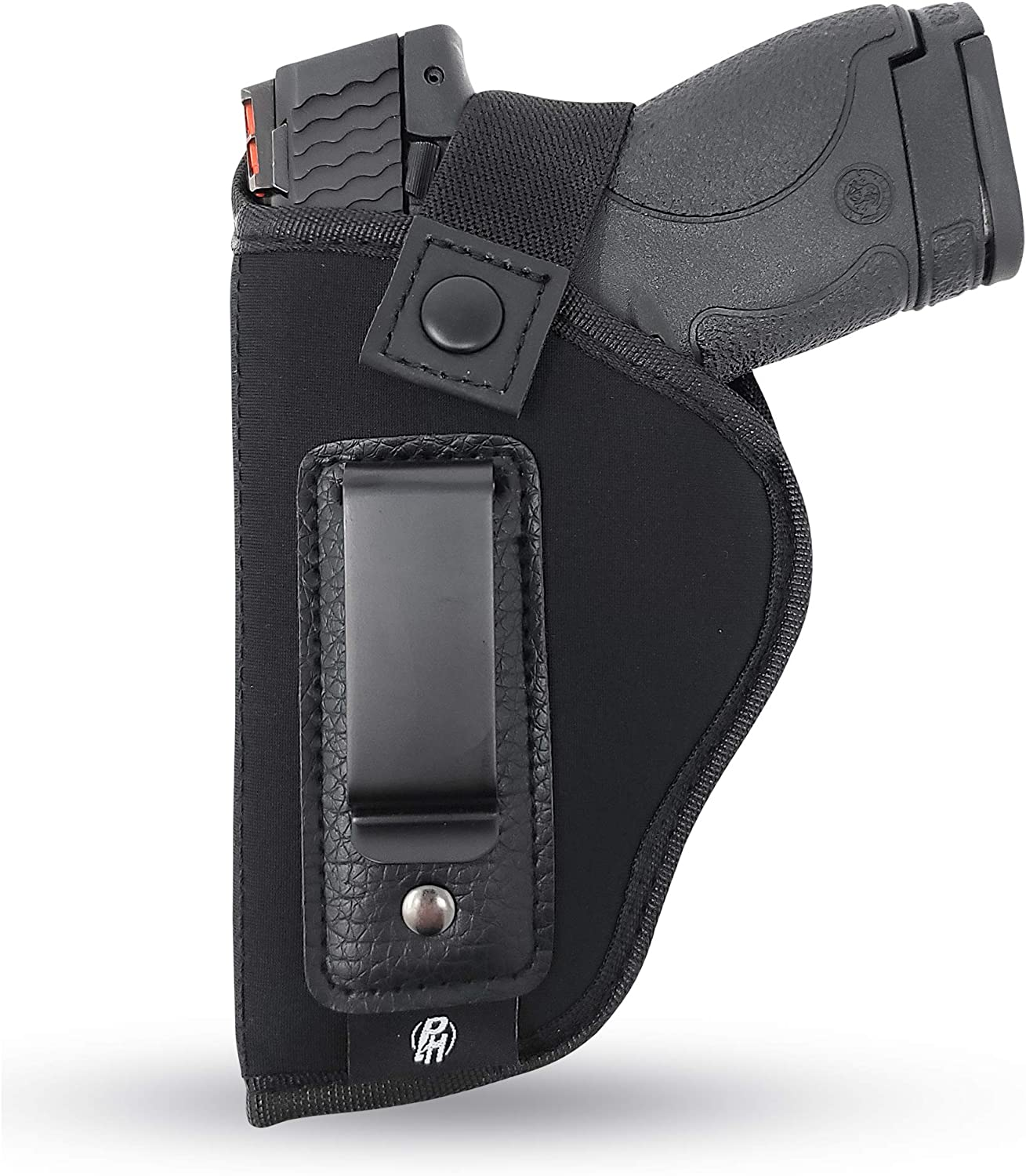 IWB Gun Holster by PH - Concealed Carry Soft Material | Soft Interior | Fits M&P Shield 9mm.40.45 Auto/Glock 19 26 27 29 30 33 42 43 / Rug LC9, LC380 | Taurus Slim, PT111 G2 | Springfield XDs Hellcat