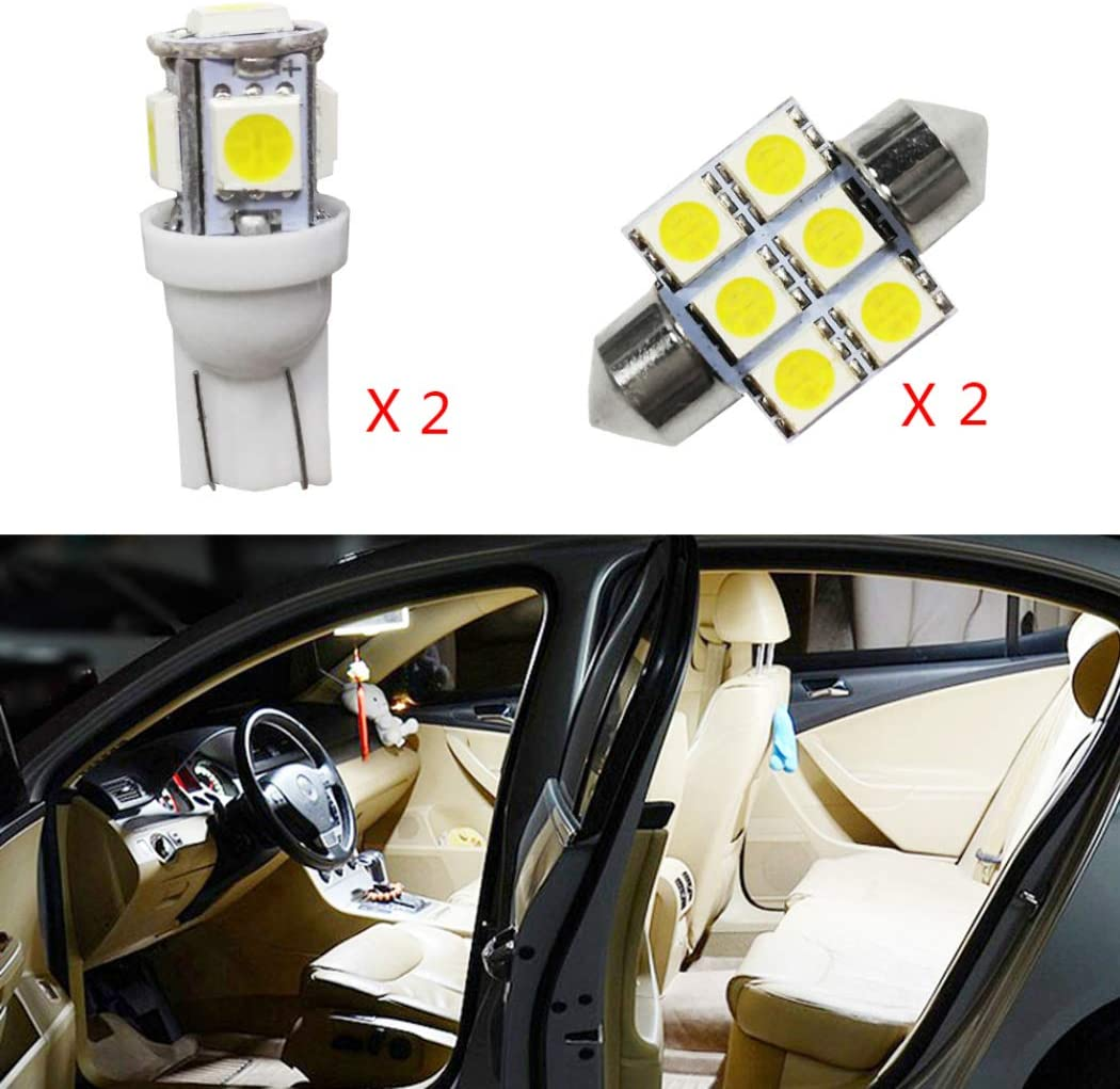 for Toyota Prius Camry Car Interior LED Bulb Super Bright Extremely Bright Lights Replacement Bulbs for Map Dome Door Courtesy License Plate White 3Pcs