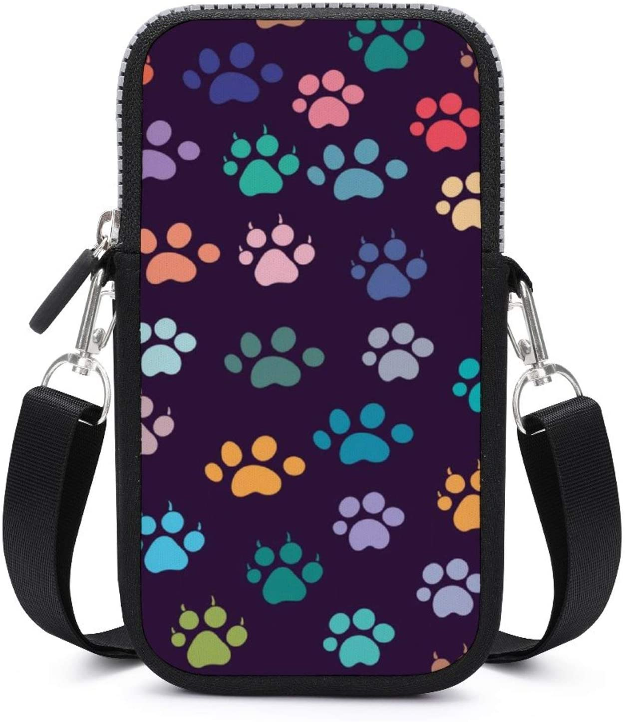 NiYoung Fashion Cell Phone Purse for Women and Girls - Small Crossbody Bag Shoulder Bag (Animals Footprint Paw Print Pattern)