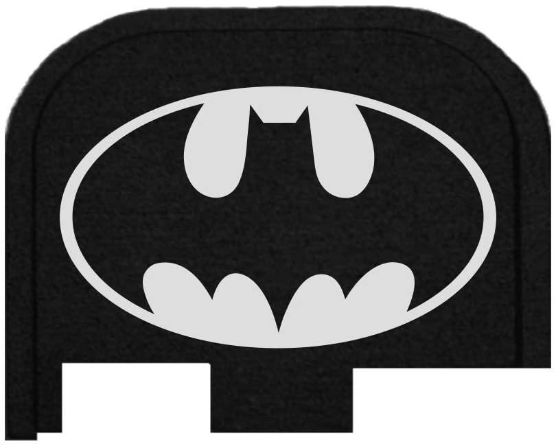 BASTION Glock 42 Butt Plate, Rear Slide Cover Back Plate for Glock 42 .380 Accessories ONLY Laser Engraved - Batman