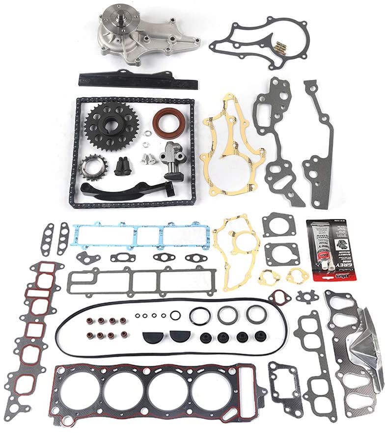 MOCA Timing Chain Kit & Head Gasket Set & Water Pump Kit for Toyota Celica 1985 & for Toyota Pickup/4Runner 1985-1995 2.4L
