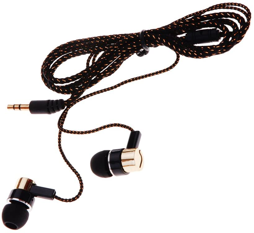 Docooler 1.1M Reflective Fiber Cloth Line Noise Isolating Stereo in-Ear Earphone Earbuds Headphones with 3.5 MM Jack Standard