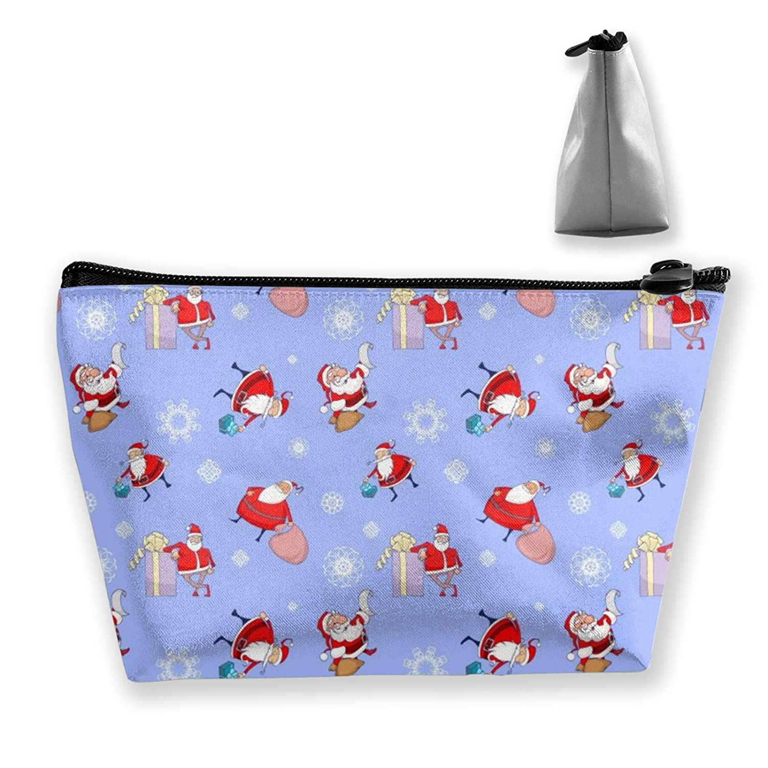 Lazy Makeup Case Santa Claus Gifts Clutch Bag Cosmetic Train Case Organizer Large Capacity Carry On Bag Luggage Pouch