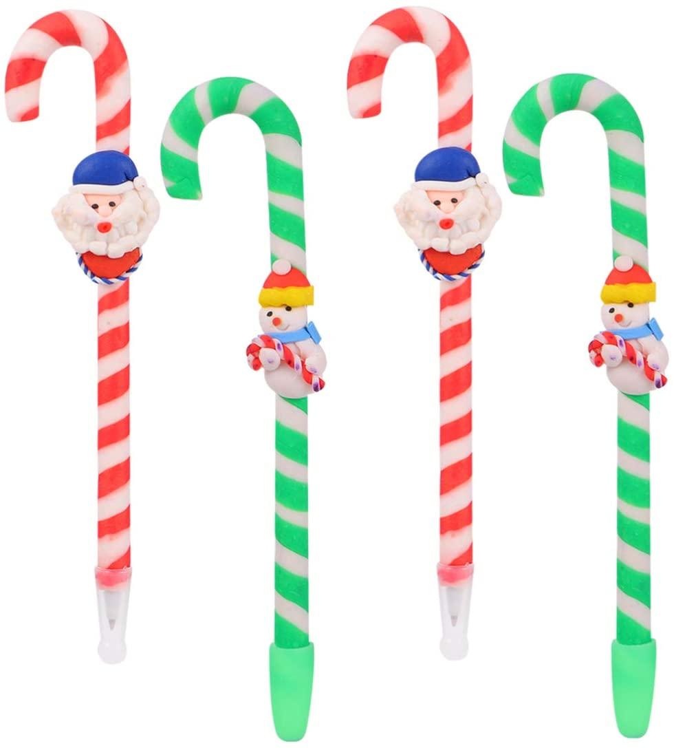 Hemoton 4pcs Christmas Gel Ink Pen Novelty Rollerball Pens for School Boys Girls Office Supplies Writing Pen Xmas Party Favors Style 2