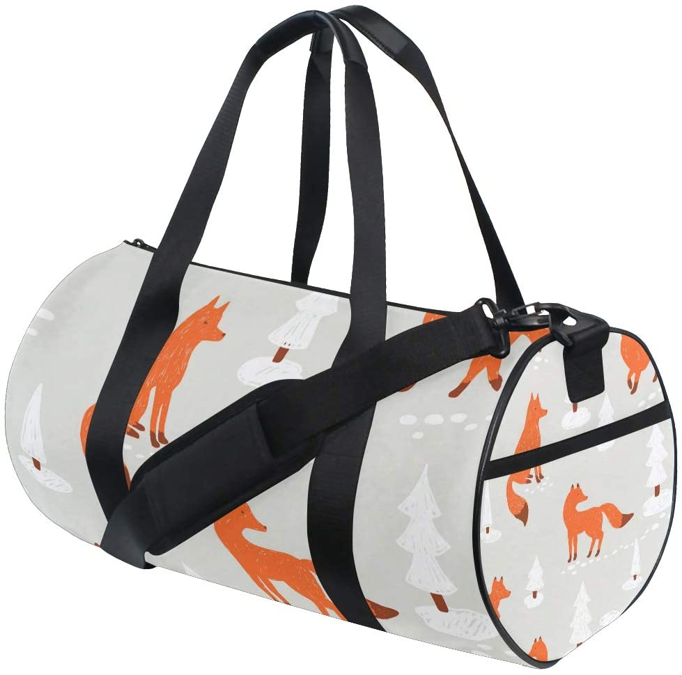 Red Fox Travel Duffle Bag Sports Luggage with Backpack Tote Gym Bag for Man Women(F)