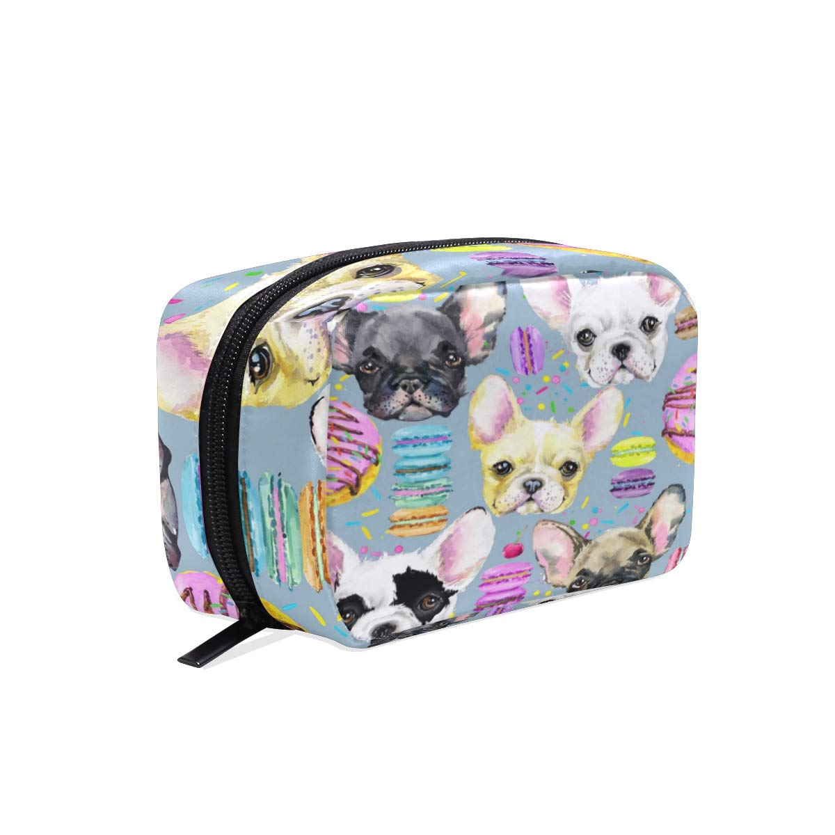 ALAZA Puppy Pug Dog Animal Makeup Cosmetic Portable Pouch Bag Organizer Capacity Storage Bag Gift for Women Girls