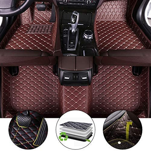 All Weather Floor Mat for 2009-2013 Ford Edge Full Protection Car Accessories Coffee 3 Piece Set