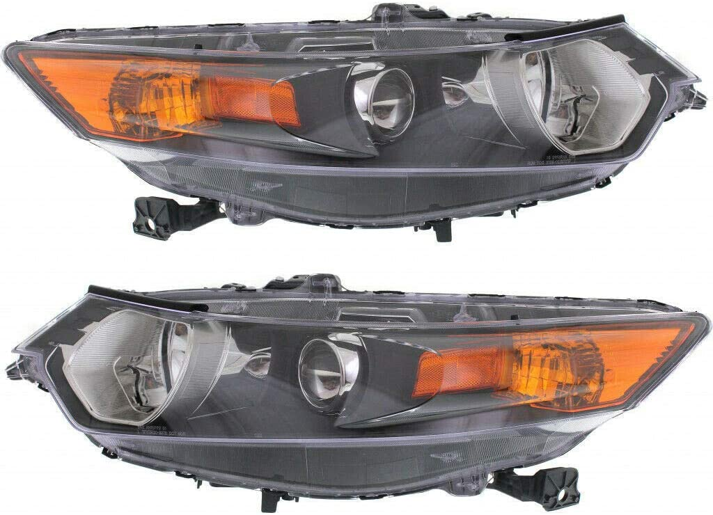 CarLights360: For 2009-2013 2014 Acura TSX Headlight Assembly Driver and Passenger Side DOT Certified - Replaces AC2502118 AC2503118 (Vehicle Trim: Sedan and Wagon)
