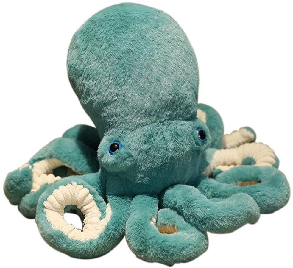 Jack-F Cute Octopus Plush Doll, Octopus Stuffed Animals Simulation Animals Soft Plush Pillow Creative Ocean Toy Gift for Kids Girls Boys Birthday Xmas Gift