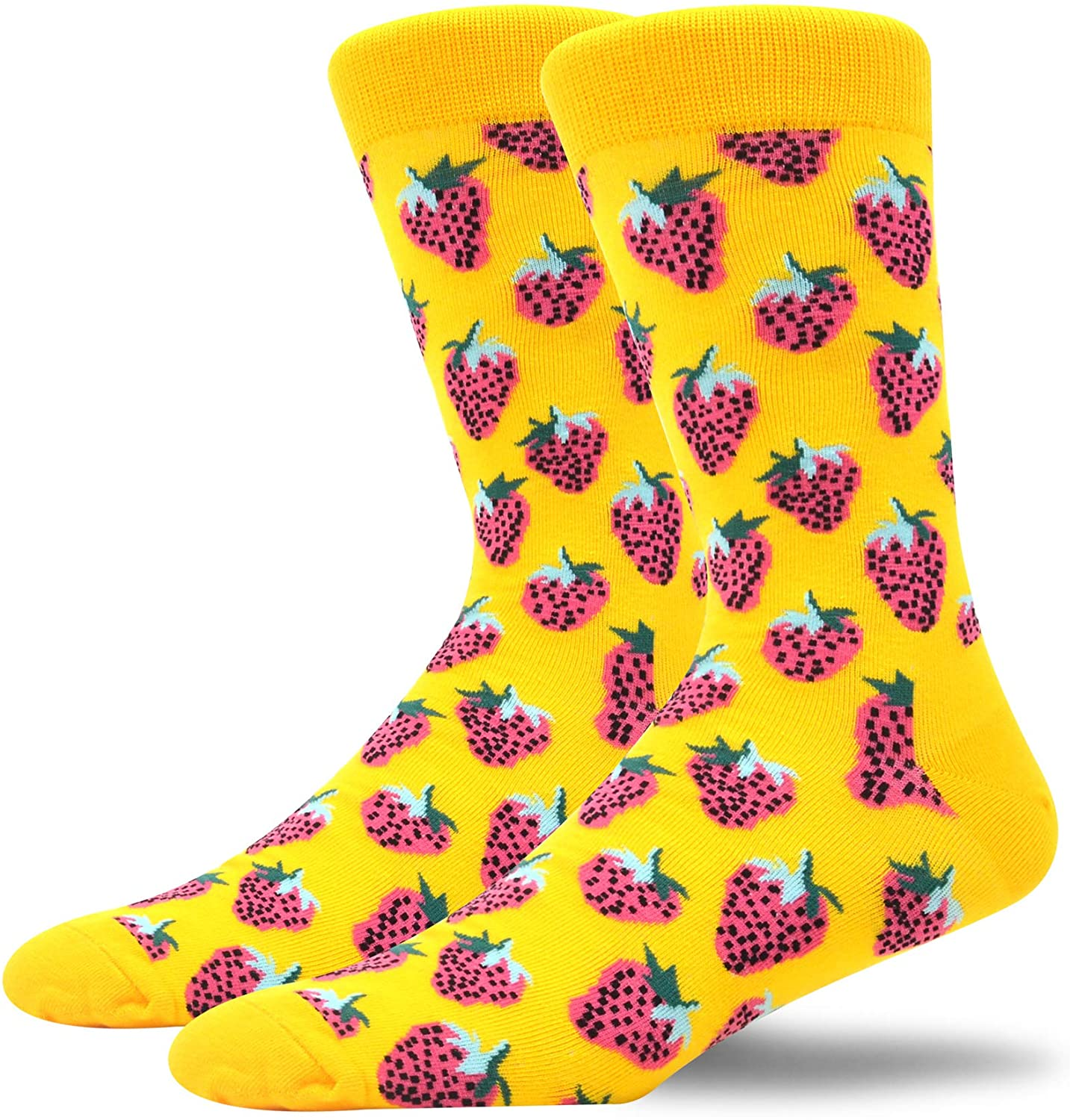 MAKABO Novelty Men For Socks Casual Colorful Funny Cotton Crew Socsk
