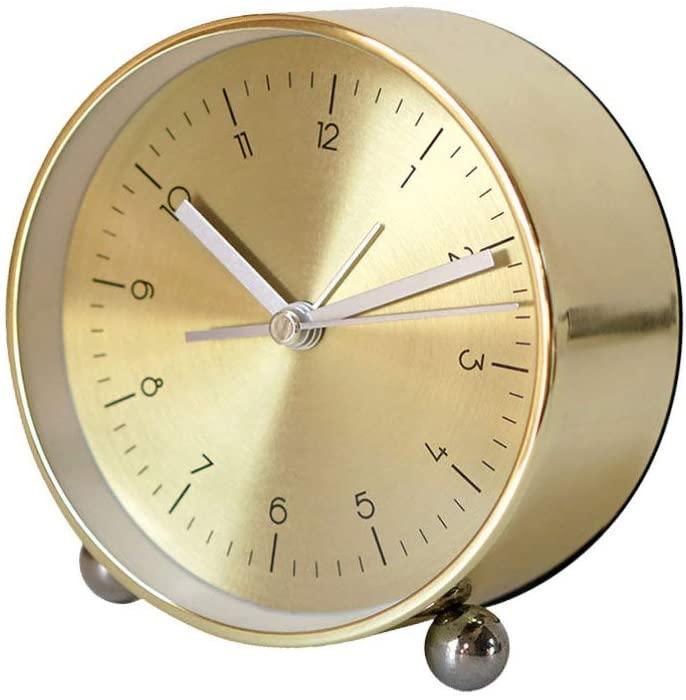 IMIKEYA 1pcs Creative Alarm Clock Bedside Time Reminder Desktop Decoration Birthday Gift for Kids, Golden