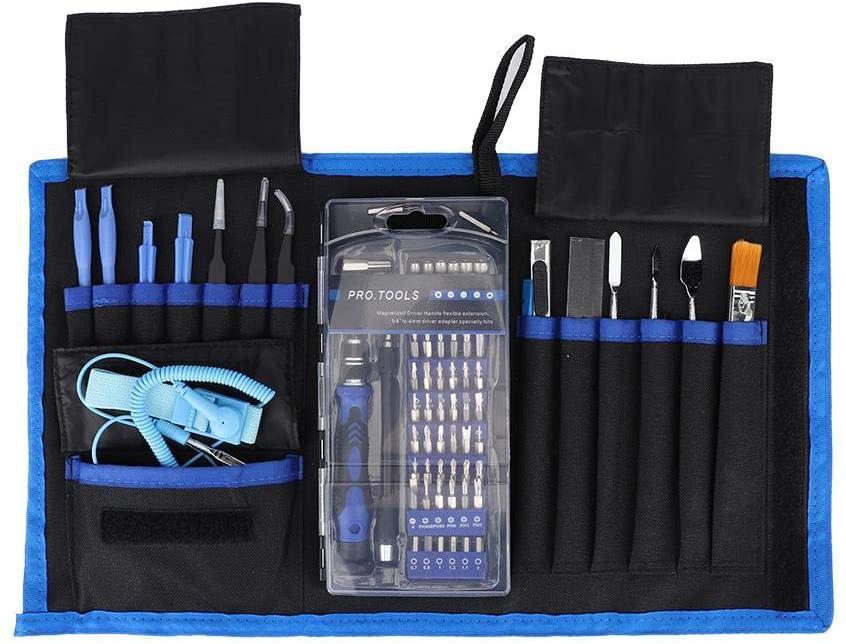 Jarchii Opening Tool Kit, Handy Tool Set, 80 in 1 Professional Electronic Opening Repairing Hand Tool Kit Screwdriver Set for Mobile Phone Watch Pad Phone Laptop PC